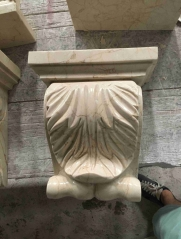 Marble Rome Pillar Cap and Base