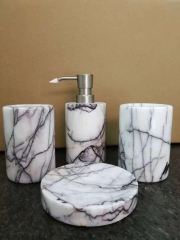 Marble Bathroom Accessories Set Shampoo and Body Lotion Bottle